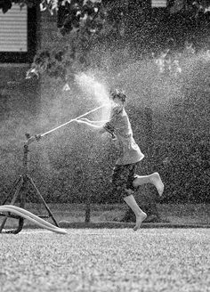 Spray of water