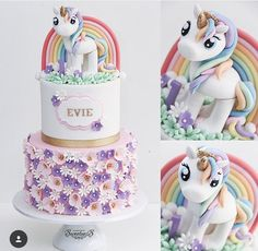 So cute I would feel bad eating it but my little girl would adore it - Motivtorten - My Little Pony Cumpleaños, My Little Pony Birthday, Unicorn Birthday Parties, Unicorn Party, Cake Birthday, 5th Birthday, Unicorn Head Cake, Unicorn Cake Topper, Unicorn Eyes