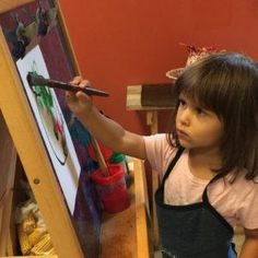 Concentration and creative expression at Miniapple. Photo (c) of Miniapple Int'l Montessori Schools What Is Montessori, Montessori Classroom, School Classroom, Preschool Painting, Expressive Art, Fine Motor Skills, Student Learning, Art For Kids
