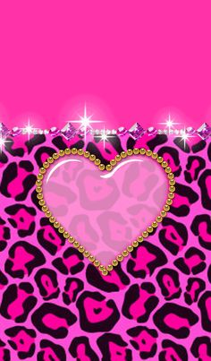 It is the theme of pink leopard pattern and bijou.