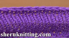 Knit Decrease Bind-off Cast-off By Purling Two Together Tutorial 7 Metho...