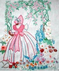 Crinoline Lady Arbor embroidery