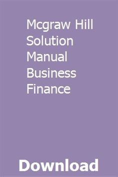 Mcgraw Hill Solution Manual Business Finance pdf download online full