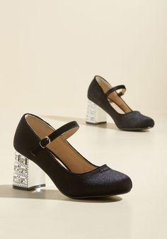 70a3c26889d3 New Arrivals - Spark Reminder Velvet Heel T Strap Heels