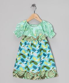 Take a look at this Teal Bird Babydoll Dress - Toddler & Girls by Ruby and Rosie on #zulily today!