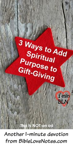 ♥ Why not make your gift-giving more purposeful by giving a gift that will help others grow spiritually - something to make Bible study or quiet time more fun. Here's 3 ideas that you might even want to put on your list. This is not an ad for products.