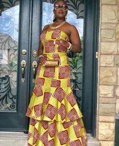 African Attire, African Fashion Dresses, African Dress, Agbada Styles, Ghanaian Fashion, African Women, Summer Dresses, Long Dresses, Casual Wear