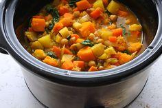 Slow Cooker Root Veggie Stew -- delicious, hearty, vegan & gluten-free!