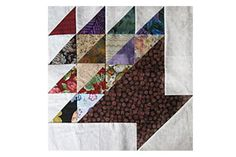 It Won't Take Long to Make a Bed Quilt With These Oversize Basket Blocks: Learn How to Make Scrap Basket Quilt Blocks