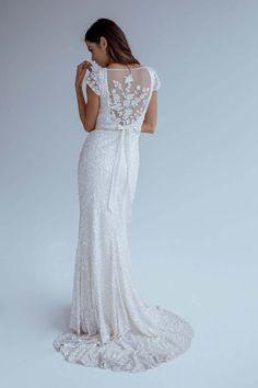 Caitlyn by Karen Willis Holmes | Sequin wedding dress | Unique wedding dress