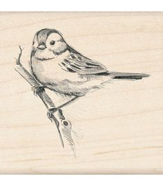 Inkadinkado® Rubber Stamp-Sparrow, , hi-resMeasures: Inkadinkado® Rubber Stamps have a hardwood base and an indexed edge to make the stamp easier to hold. A precisely cut rubber design layer. Sparrow Drawing, Sparrow Tattoo, Bird Drawings, Animal Drawings, Pencil Drawings, Tatoo Bird, Bird Sketch, Sparrow Bird, Bird Pictures