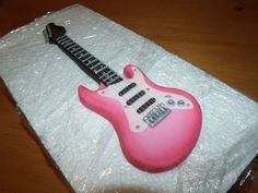 Fondant guitar cake topper custom color of  choice by Cupncake1, $29.99