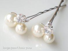 Chic Pearl Bridal Hair Pins. Make it a Diy project!