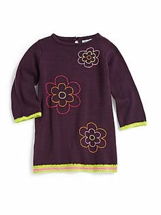 Hartstrings Infant's Floral Tunic-Length Sweater
