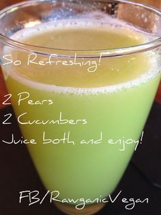 Cooing New Healthy Juices To Make Smoothie Recipes Healthy Juice Recipes, Juicer Recipes, Healthy Juices, Healthy Smoothies, Healthy Drinks, Pear Recipes, Simple Juice Recipes, Cucumber Recipes, Healthy Detox