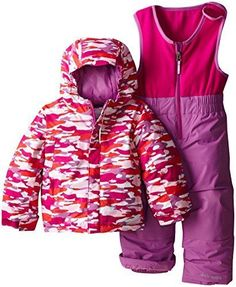 11e7443eb COLUMBIA Girls 3 3T FROSTY SLOPE 2 PIECES SET PANTS SNOWSUIT BIBS JACKET  COAT