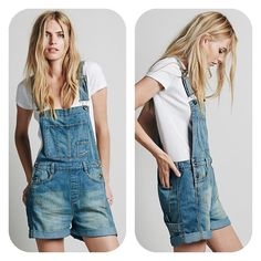 Free People Boyfriend Shortall Free People boyfriend shortall in Brandy wash. Distressed denim short overalls with a relaxed boyfriend fit and four pocket design. Bib features additional pockets. Button detailing at hips and adjustable shoulder straps. Cuffed hems. Worn only twice, washed in cold water and air dried. Perfect, like-new condition. Free People Other