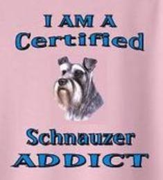 I am a certified Schnauzer Addict!