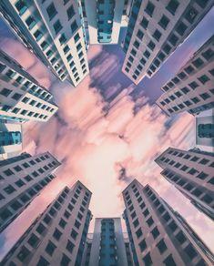 Symmetric Photography by https://plexxie.com/profile/Jeryl #photography #pastel #architecture #plexxie #singapore #sky #skyphotography