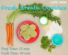 All Natural Fresh Breath Dog Cookies - Gluten-Free!