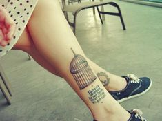 """Bukowski Bluebird Quote Ankle Tattoo """"there's a bluebird in my heart that wants to get out"""""""