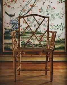 爱 Chinoiserie? Mai Qui! 爱 home decor in chinoiserie style -  Bamboo Chippendale Chair