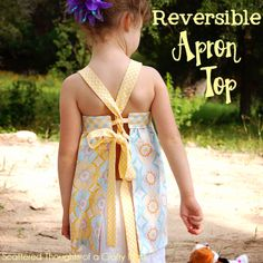 Apron Top Tutorial. Free pattern in sizes 2 to 6, plus instructions to make other sizes. How cute will this be for summer? From www.scatteredthoughtsofacraftymom.com