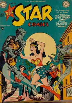 All-Star Comics #46 1949 Cover by Irwin Hasen, Arthur F. 'Art' Peddy and Bernard Sachs