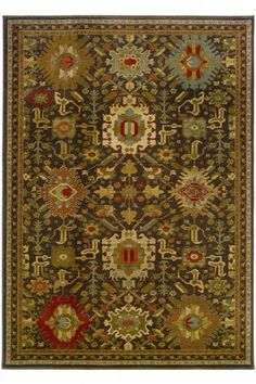 This would be great in the music room! Salerno Area Rug - Brown Rugs - Persian Rugs - Synthetic Rugs - Area Rugs - Rugs - Made In America - American Made | HomeDecorators.com