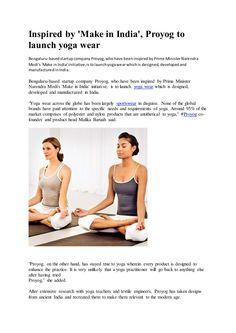 Proyogwear   Proyog yoga wear by Proyog Wear via slideshare