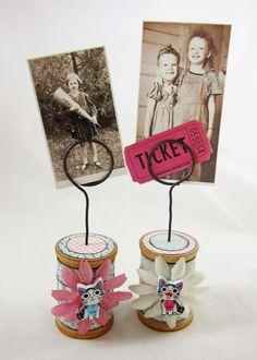 Little Spool Photo Holders for Alpha Stamps (K.Batsel)