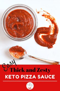 A keto pizza sauce recipe that's so thick and zesty and brimming with flavor everyone will think you spent all day making it. I'll know it only took 5 minutes, but it will be our little secret. You can't go wrong with this flavorful sauce. Keto Sauces, Low Carb Sauces, Low Carb Recipes, Healthy Recipes, Pizza Recipes, Vegetarian Recipes, Best Keto Breakfast, Breakfast Recipes, Breakfast Ideas