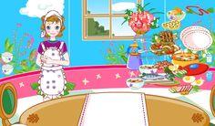 Barbie Sofra kuruyor fakat bütün ürünler tabaklar, çatallar, yemekler, içecekler farklı yerlerde onları bir araya toplamaya çalışacak aynı zamanda masa düzenine çatal bıçak yerleşimine dikkat edeceksiniz.  http://www.kolayoyun.com/barbie-sofra-kuruyor.html