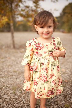 Ella Dress (sizes 12/18 months to 7) PDF Sewing Pattern and Tutorial. $7.00, via Etsy.