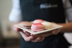 Sweet french macarons!  These were made fresh by Pastry Chef Rebecca Reed in her first-ever bake and brunch class at Matthew's in Jacksonville last week. We predict (and hope) more classes will follow soon!