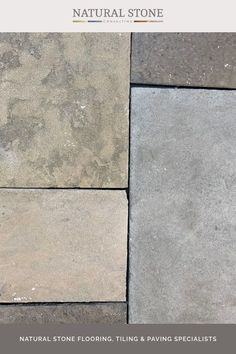 Our exclusive rendition of reclaimed flags featuring the tones of Cotswold stone and Yorkstone. Kingham grey antiqued flagstones are genuine hand-worked stones, individually finished to replicate the worn surfaces of reclaimed British sandstone and limestone. Suitable for indoors and outdoors, find our more details on the website. #naturalstoneconsultancy #naturalstoneflooring #flagstones Step Treads, Natural Stone Flooring, Rustic Stone, Underfloor Heating, Flagstone, Stone Tiles, Natural Stones, The Outsiders, British