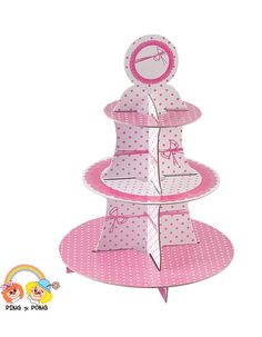 Suport-carton-prajituri-roz-turquoise-polka-dots-candy-bar