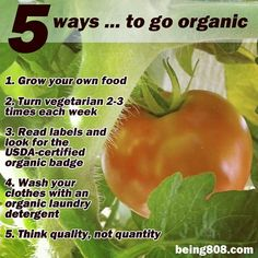5 ways … to go organic