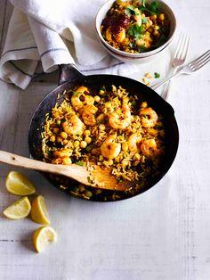 10-minute Moroccan prawn rice bowl