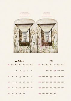 2013 calendar October/Octobre