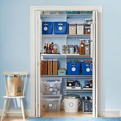Get an organized pantry by simply following our rules for pantry storage! Easily locate items with our rules for organizing your pantry by zones, using clear storage bins for canned goods, adding lazy susans to store spices and more awesome pantry organization tips!