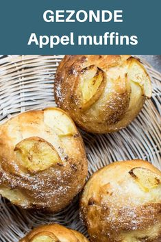 Appelmuffins – Foodsisters Making apple muffins healthy is super easy with this recipe Healthy Muffins, Healthy Sweets, Healthy Breakfast Recipes, Healthy Baking, Snack Recipes, Dessert Recipes, Breakfast Dessert, Apple Recipes, Tapas