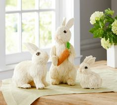 easter idea, spring decor, bunni potterybarn, sisal bunni, easter decor, barn decor, easter bunni, easter bunny, pottery barn