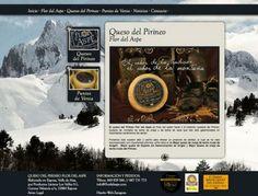 Diseño Garabato - Flor del Aspe queso del Pirineo http://www.flordelaspe.com/ #web #Huesca #Aragon #queso