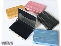 Hộp namecard kim loại in logo mô hình vali xách tay – NK015
