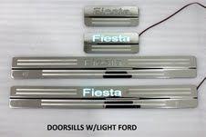 Variasi mobil lainya » Sill Plate / Door Sill » Ford Fiesta Door sill / Sill plate stanless pakai lampu - MCBC • Gudangnya Variasi Dan Spare Parts Mobil