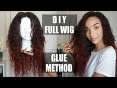 HAIR| How To: DIY Full Wig + Lace Closure (Glue Method) - Wow African Funmi Bundles - YouTube