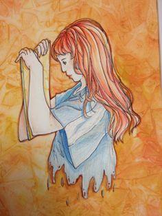 """""""Writing What I Feel"""" by Jillian Morrow from the Doerre Intermediate School art program. #ArtColony #HouArtFest"""