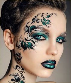 Fashion,Beauty,Landscape,Home Designe,Sexy Girls. Crazy Makeup, Makeup Looks, Creative Eye Makeup, Make Up Art, Maquillage Halloween, Fantasy Makeup, Costume Makeup, Face Art, Face And Body