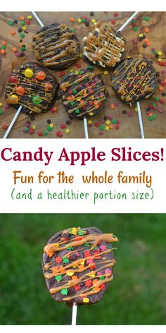 Fun for the whole family to make.easy too and a healthier portion size! Why dip the whole apple when you can dip it and enjoy it slice by slice! Carmel Apple Bars, Candy Apple Bars, Thanksgiving Treats, Fall Treats, Chocolate Covered Apples, Apple Recipes, Fall Recipes, Carmal Apples, Sweets